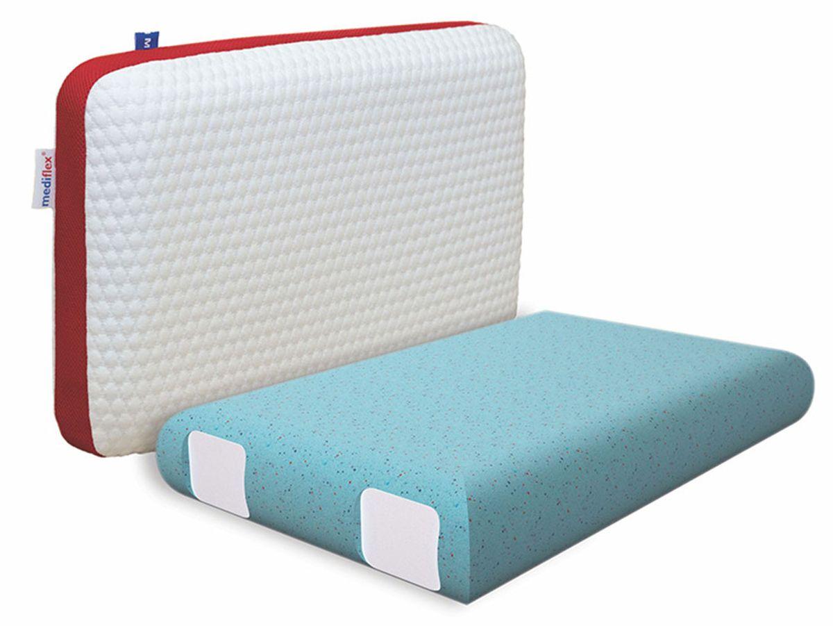 Подушка ортопедическая Mediflex Forte, размер LPO.FORT.LСон на неправильной подушке является причиной ухудшения качества сна. Подушки разработаны специалистами лаборатории сна совместно с академиком В.И. Дикулем, гарантируют поддержку шейных позвонков во время сна.