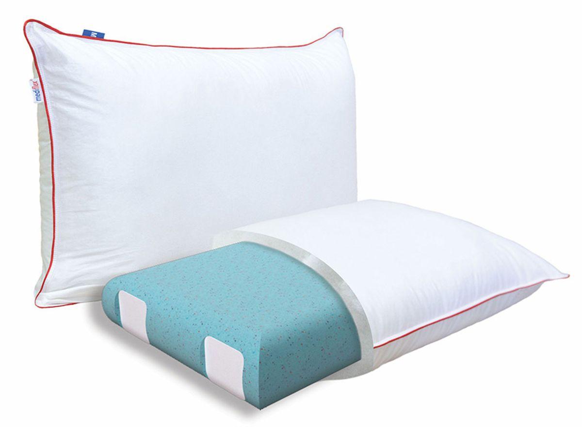 Подушка ортопедическая Mediflex Forte Plus, размер SPO.FORTPL.SСон на неправильной подушке является причиной ухудшения качества сна. Подушки разработаны специалистами лаборатории сна совместно с академиком В.И. Дикулем, гарантируют поддержку шейных позвонков во время сна.