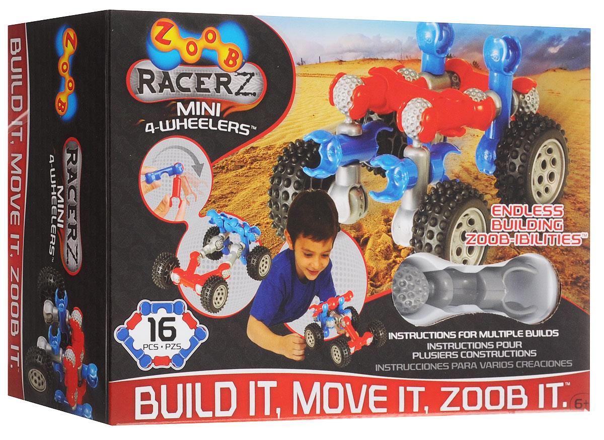 Zoob Конструктор Mini 4-Wheeler12050, 0Z12050TLZoob - подвижный многовариантный конструктор, завоевавший внимание детей и их родителей во всем мире. Конструктор Zoob Mini 4-Wheeler - прекрасный набор для юных изобретателей, который поможет детям ощутить себя одновременно в роли проектировщика, создателя и гонщика. В набор входят 16 деталей ярких цветов. Юный инженер сможет собирать уже существующие в инструкции пошаговые схемы моделей или разрабатывать свои собственные. Сколько моделей можно собрать всего из 12 деталей и четырех колес? Не поверите, минимум три, а учитывая фантазию малыша и возможности конструкторов ZOOB, сколько угодно. Ведь у наборов ZOOB практически не существует уникальных деталей. Всех их можно использовать в любой из моделей конструктора. Элементы конструктора Zoob соединяются между собой более чем 20 различными способами. Представьте ту безграничность вариантов моделей, которые можно создать с помощью конструктора Zoob!