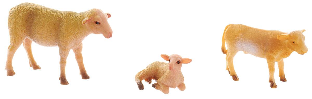 Ami&Co Набор фигурок Ферма 3 шт17695_овца, теленок, ягненокНабор фигурок Ami&Co Ферма - это отличный подарок для вашего малыша. Набор познакомит ребенка с разными видами домашних животных, живущих на ферме. В комплект входят фигурки овечки, ягненка и теленка. Фигурки можно использовать в качестве наглядного пособия при изучении животного мира. Изделия изготовлены из безопасного материала, не токсичны и не вызывают аллергию.