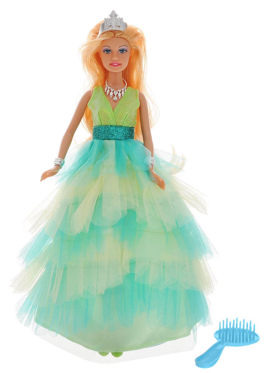 Defa Кукла Lucy Принцесса цвет платья салатовый8275_салатовыйКукла Defa Lucy Принцесса обязательно понравится маленьким девочкам и доставит много часов удовольствия от игры с ней. Кукла готова сразить всех наповал своей красотой! Принцесса с длинными светлыми волосами одета в шикарное салатовое платье с пышным подолом и блестящим корсетом. Модный образ куклы дополняют ожерелье, диадема, два браслета и голубая расческа. В комплект с куклой входит специальная подставка. Игры с куклой способствуют эмоциональному развитию, помогают формировать воображение и художественный вкус, а также разовьют в вашей малышке чувство ответственности и заботы. Великолепное качество исполнения делают эту куколку чудесным подарком к любому празднику.