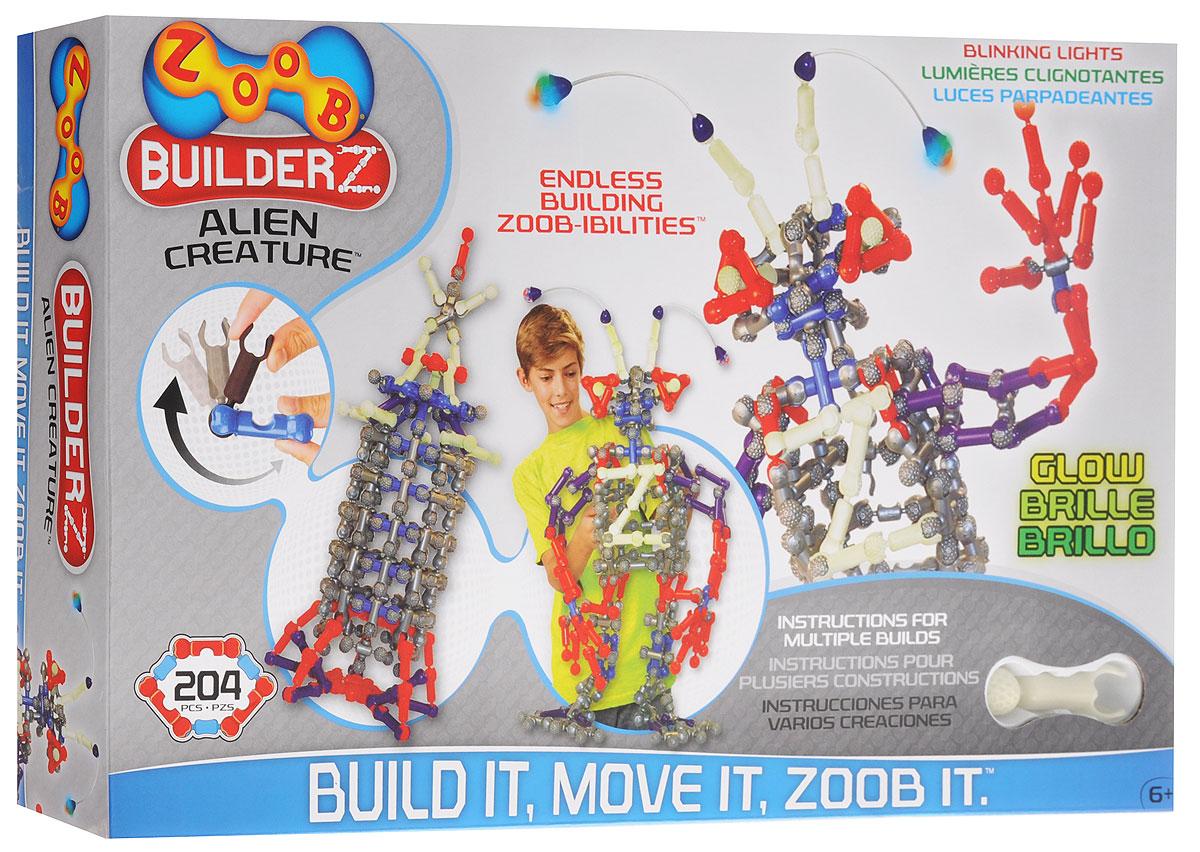 Zoob Конструктор Alien Creature14002Конструктор Zoob Alien Creature - это подвижный многовариантный конструктор, завоевавший внимание детей и их родителей во всем мире. Дети обожают играть с космическими пришельцами, ракетами и летающими тарелками. Набор включает в себя 204 детали и пошаговую инструкцию для создания различных инопланетных монстров. Некоторые элементы конструктора светятся в темноте, что придаст инопланетянам еще более фантастический вид. Конструкторы Zoob рекомендованы детям с 6 лет. Данное возрастное ограничение основано на том, что пространственное мышление у ребенка, по мнению специалистов, начинает развиваться именно с этого возраста. Во всех наборах Zoob содержатся 5 видов пластиковых деталей необычной формы. Они соединяются между собой 20-ю различными способами. Соединения деталей могут быть как неподвижными, так и подвижными. При подвижном соединении детали конструктора, защелкиваясь, образуют подобие суставов. Поэтому ребенок может не только собирать конструктор, но играть с ним...