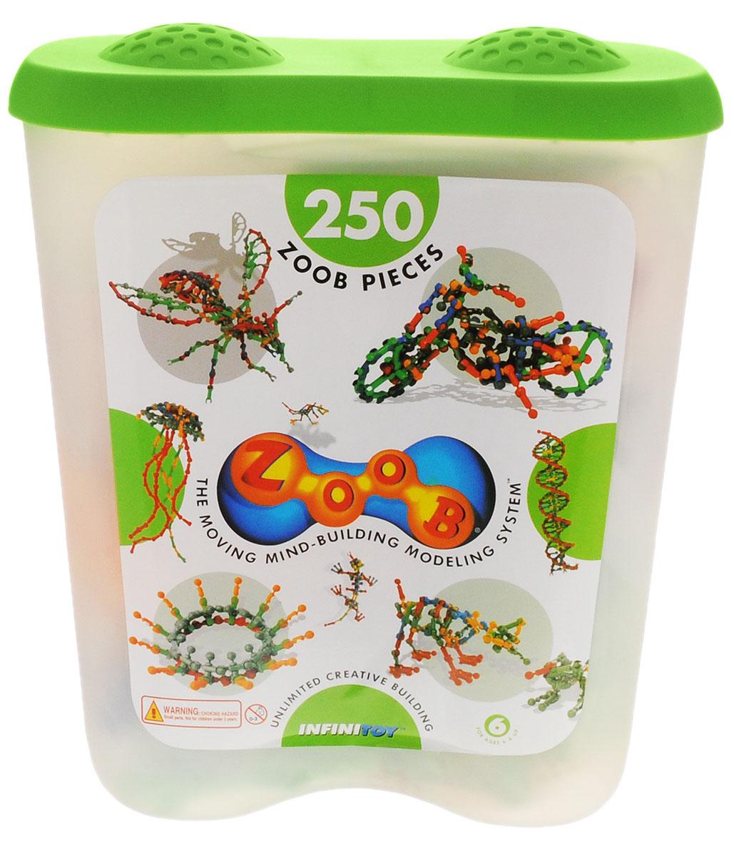 Zoob Конструктор 1125011250Конструктор Zoob - это подвижный многовариантный конструктор, завоевавший внимание детей и их родителей во всем мире. Набор включает в себя 250 деталей для реализации самых сложных задумок вашего изобретателя - можно собрать большую игуану, двухколесный велосипед, гигантского паука, геометрические фигуры, различные абстрактные формы и многое другое. Удобный контейнер оценят хозяйки, ведь в нем так удобно хранить все детали конструктора Zoob и ценные поделки юных фантазеров. Конструкторы Zoob рекомендованы детям с 6 лет. Данное возрастное ограничение основано на том, что пространственное мышление у ребенка, по мнению специалистов, начинает развиваться именно с этого возраста. Во всех наборах Zoob содержатся 5 видов пластиковых деталей необычной формы. Они соединяются между собой 20-ю различными способами. Соединения деталей могут быть как неподвижными, так и подвижными. При подвижном соединении детали конструктора, защелкиваясь, образуют подобие суставов. Поэтому ребенок...