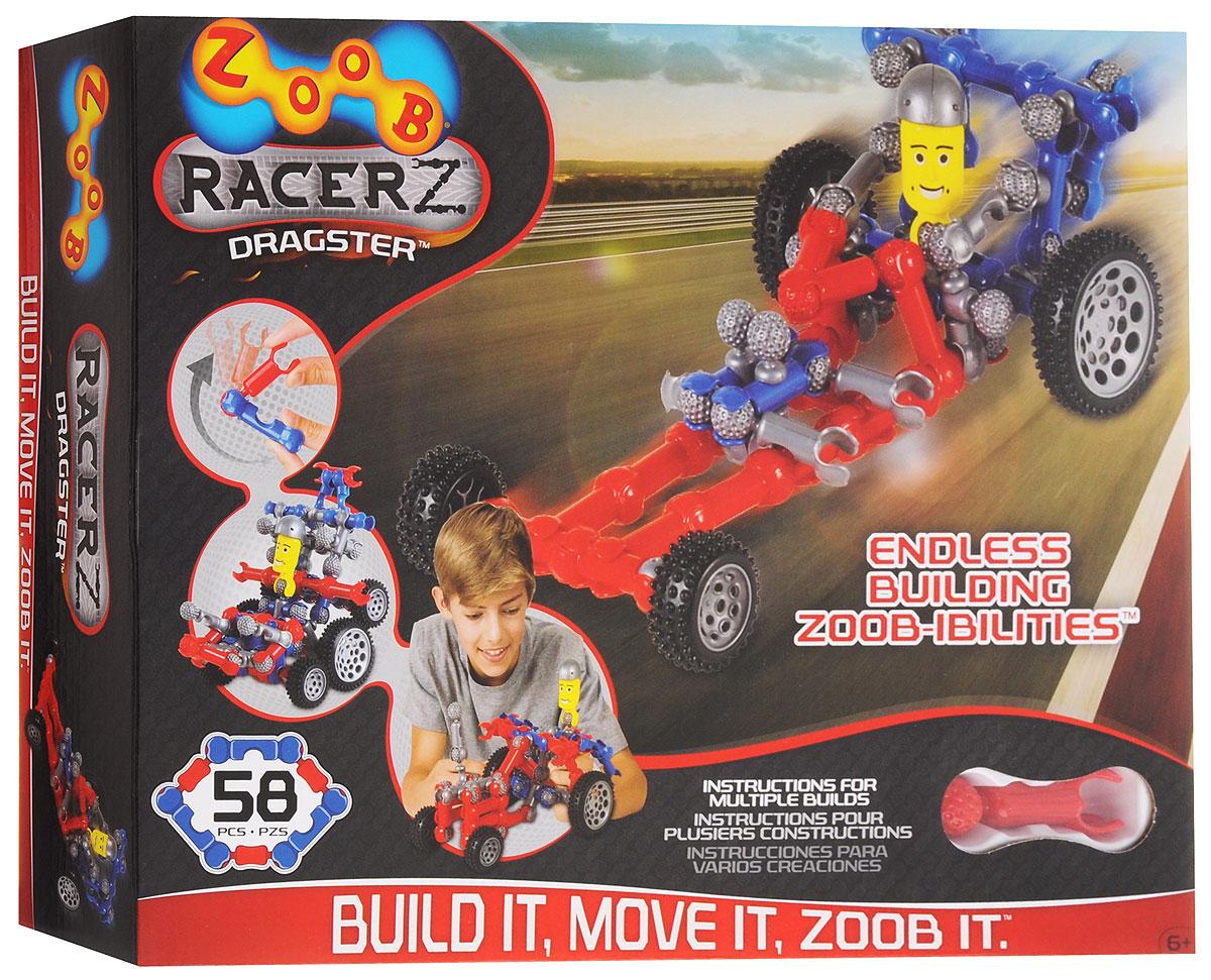Zoob Конструктор Dragster12054, 0Z12054TLZoob - подвижный многовариантный конструктор, завоевавший внимание детей и их родителей во всем мире. Конструктор Zoob Dragster - прекрасный набор для юных изобретателей, который поможет детям ощутить себя одновременно в роли проектировщика, создателя и гонщика. Из конструктора можно собрать трактор, гоночный автомобиль, багги, джип и многие другие модели. В набор входят 58 деталей ярких цветов. Юный инженер сможет собирать уже существующие в инструкции пошаговые схемы моделей или разрабатывать свои собственные. Вы можете создавать свои гоночные болиды или внедорожные багги, а затем наслаждаться игрой с ними! В комплект конструктора Drugster входит 50 разноцветных деталей, 4 обычных и два больших колеса с резиновыми покрышками, что обеспечит безопасность и во время игры и увлеченность игрой. И ещё один классный бонус этого набора - фигурка водителя. У наборов ZOOB практически не существует уникальных деталей. Всех их можно использовать в любой из моделей...