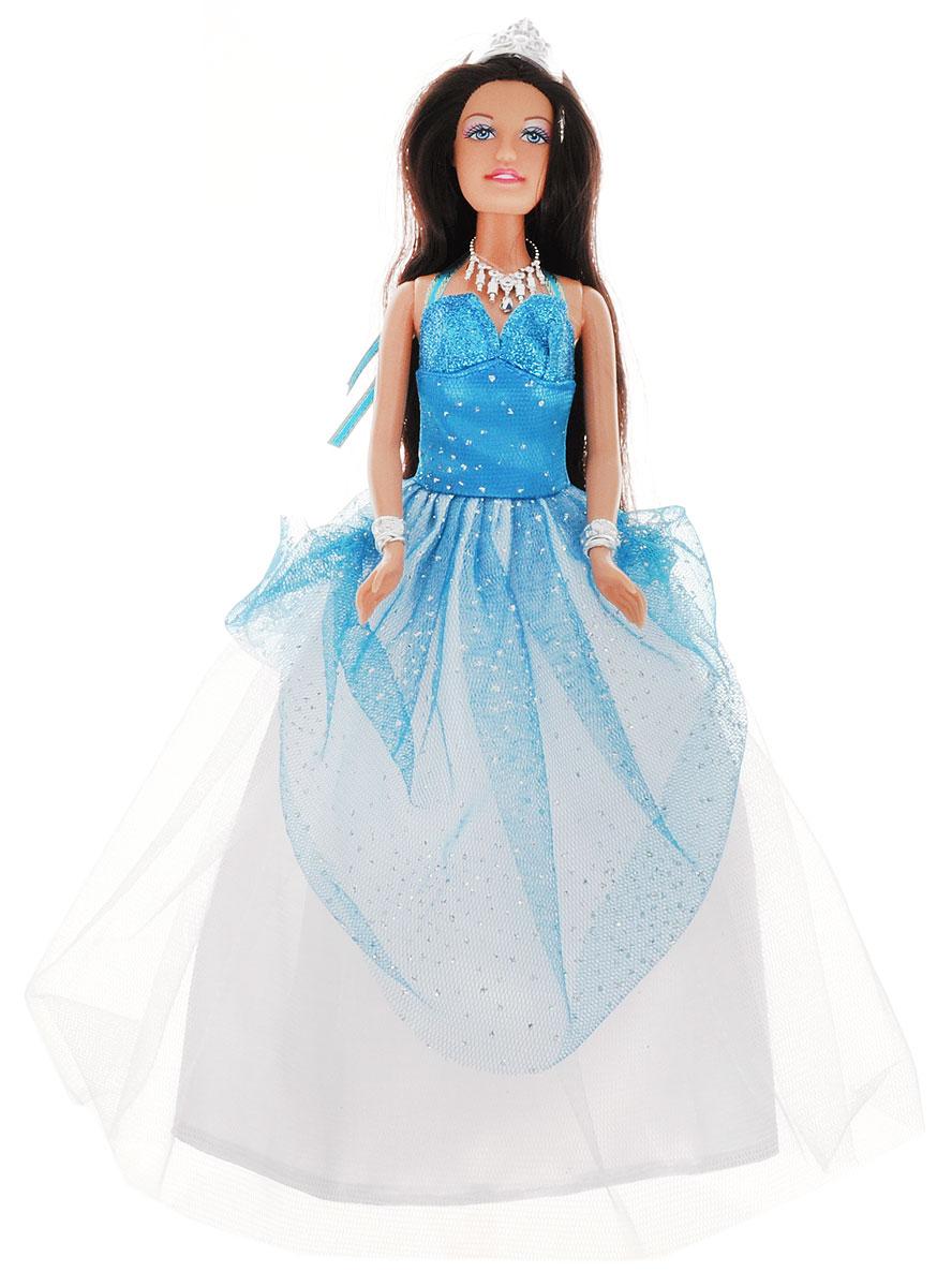 Defa Кукла Lucy Принцесса цвет платья голубой белый8275_голубойКукла Defa Lucy Принцесса обязательно понравится маленьким девочкам и доставит много часов удовольствия от игры с ней. Кукла готова сразить всех наповал своей красотой! Принцесса с длинными темными волосами одета в шикарное голубое платье с пышным белым подолом и блестящим корсетом. Модный образ куклы дополняют ожерелье, диадема, два браслета и голубая расческа. В комплект с куклой входит специальная подставка. Игры с куклой способствуют эмоциональному развитию, помогают формировать воображение и художественный вкус, а также разовьют в вашей малышке чувство ответственности и заботы. Великолепное качество исполнения делают эту куколку чудесным подарком к любому празднику.