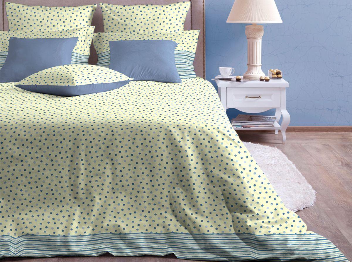 Комплект белья Хлопковый Край Пузыри, 1,5-спальный, наволочки 70x7015б-1ХКссКомплект постельного белья выполнен из качественной бязи и украшен оригинальным рисунком. Комплект состоит из пододеяльника, простыни и двух наволочек. Бязь представляет из себя хлопчатобумажную матовую ткань (не блестит). Главные отличия переплетения: оно плотное, нити толстые и частые. Из-за этого материал очень прочный и практичный. Постельное белье Хлопковый Край экологичное, гипоаллергенное, оно легко стирается и гладится, не сильно мнется и выдерживает очень много стирок, при этом сохраняя яркость цвета и рисунка.