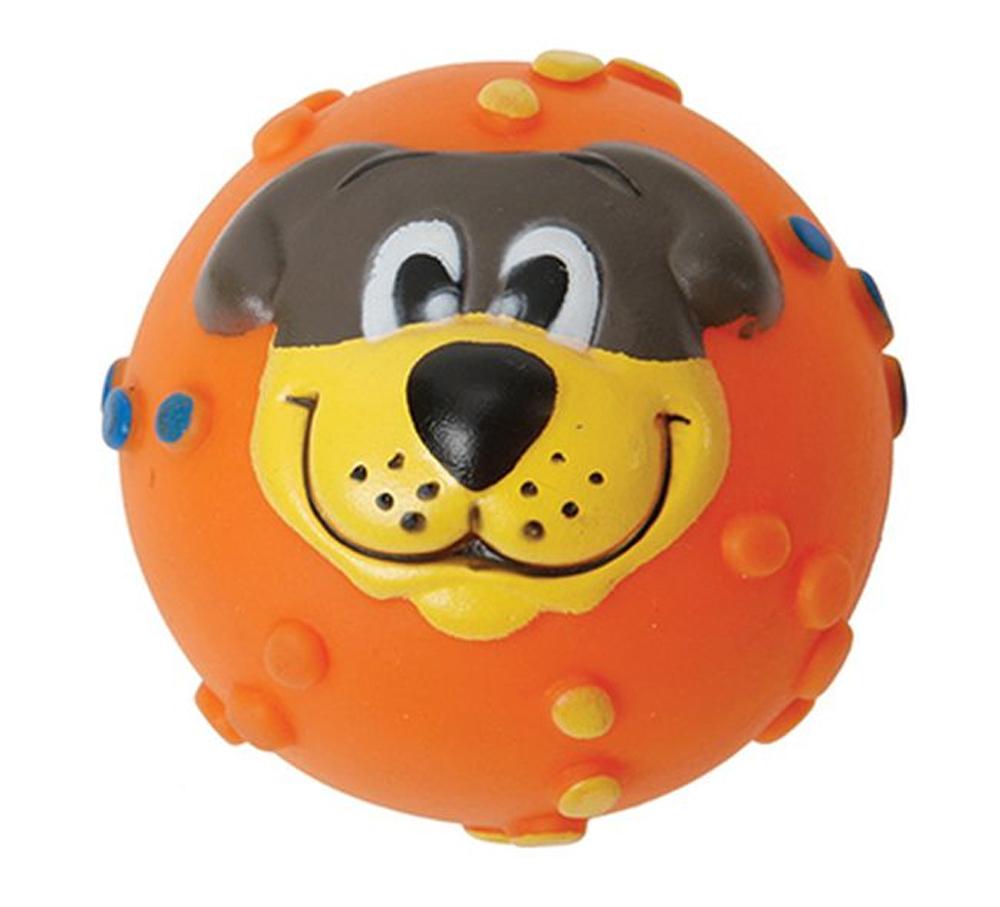 Игрушка для собак Каскад Мячик с мордочкой, с пищалкой, цвет: оранжевый, диаметр 7 см27799273Игрушка Каскад Мячик с мордочкой изготовлена из прочной и долговечной резины, устойчивой к разгрызанию. Необычная и забавная игрушка прекрасно подойдет для собак, любящих игрушки с пищалками. Такая игрушка порадует вашего любимца, а вам доставит массу приятных эмоций, ведь наблюдать за игрой всегда интересно и приятно. Диаметр: 7 см.