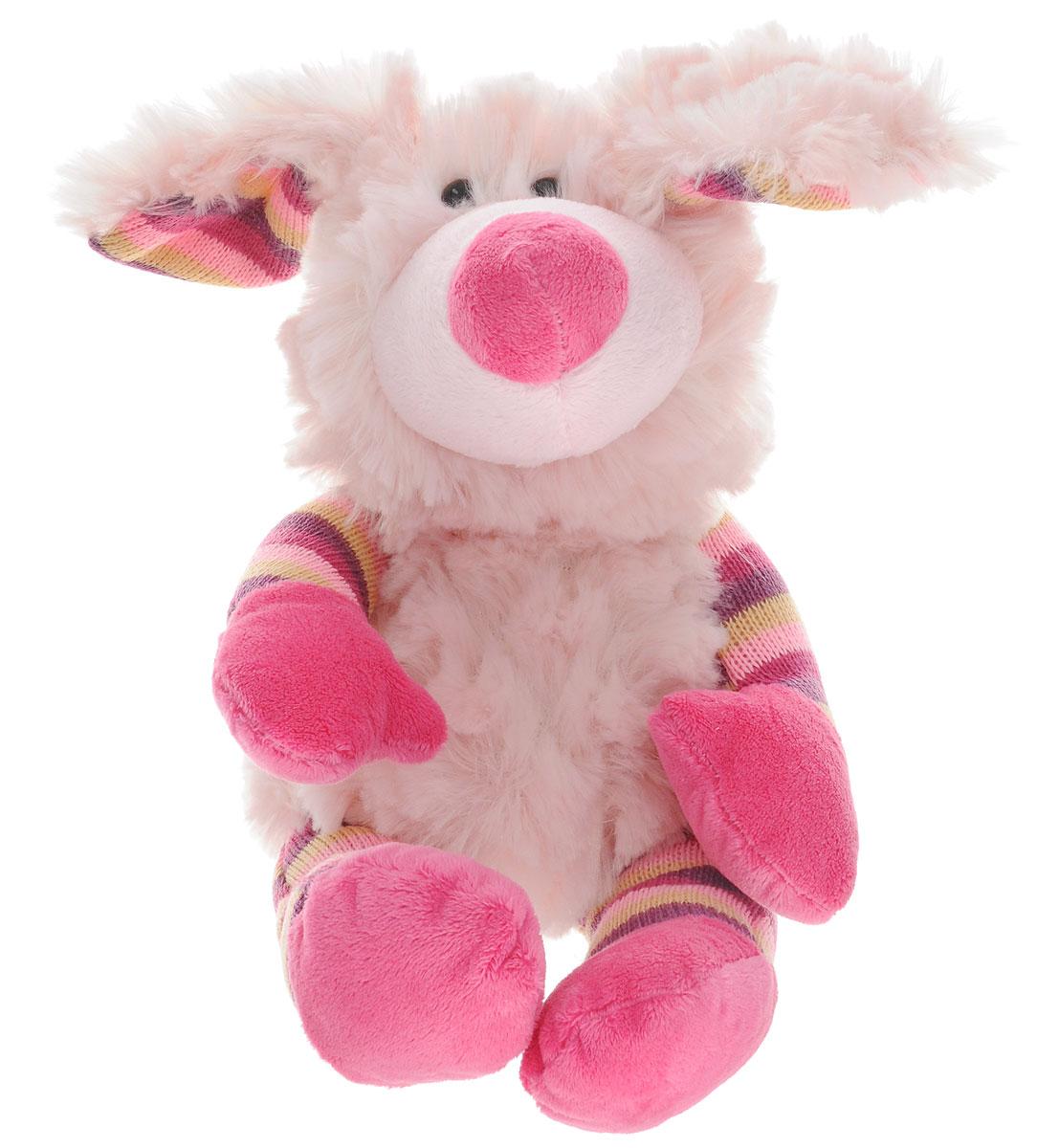 Toivy Мягкая игрушка Собака 20 см471-2362Мягкая игрушка Toivy Собака - это забавный песик, у которого взъерошенный и лохматый вид. Симпатичная собачка выполнена в девичьей расцветке с использованием белого, розового, малинового, лилового и горчичного цветов. Игрушка изготовлена с вниманием к деталям, аккуратно сшита. Она набита мягким материалом в сочетании с пластиковыми гранулами, которые полезно и приятно перебирать в руках. Собачка легкая, компактная и не занимает много места в комнате ребенка, поместится даже в школьный портфель или сумочку.