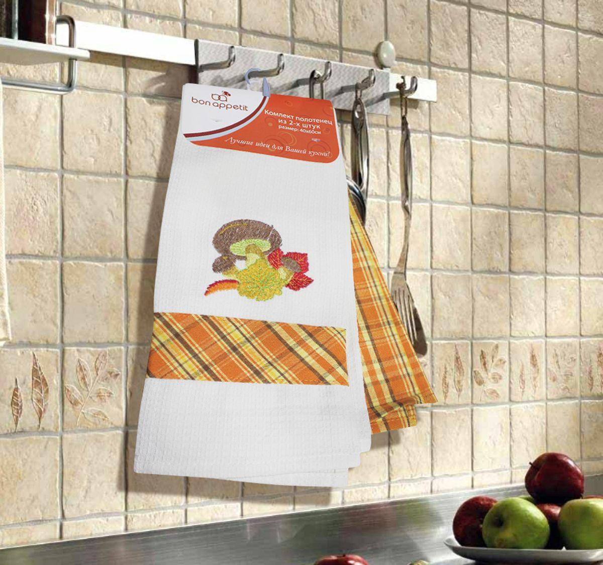 Набор кухонных полотенец Bon Appetit Mushrooms, цвет: коричневый, 2 шт64866Кухонные Полотенца Bon Appetit - В помощь хозяйке на кухне!!! Кухонные Полотенца Bon Appetit идеально дополнят интерьер вашей кухни и создадут атмосферу уюта и комфорта. Полотенца выполнены из натурального 100% Хлопка, поэтому являются экологически чистыми. Качество материала гарантирует безопасность не только взрослых, но и самых маленьких членов семьи. Bon Appetit – Интерьер и Практичность Современной Кухни!