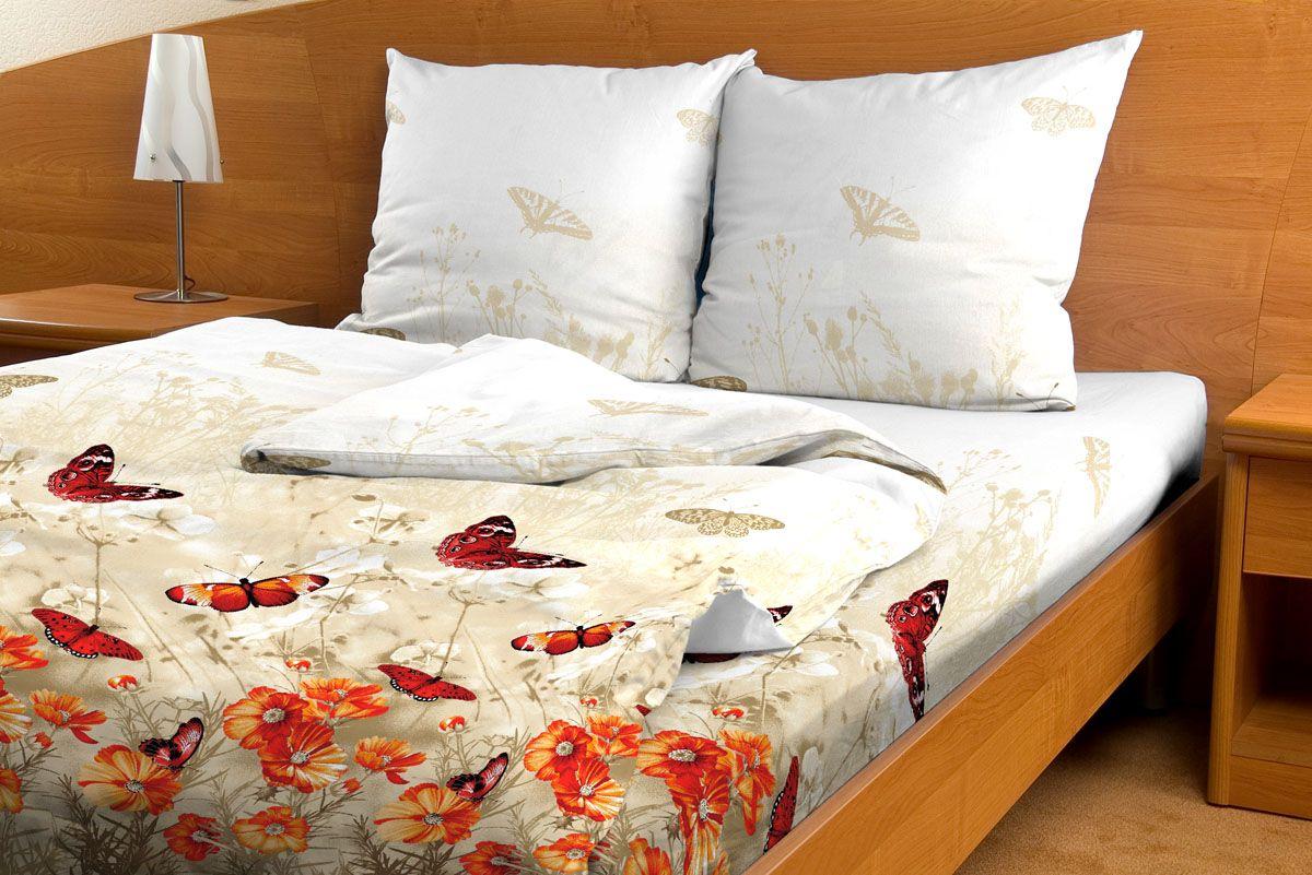 Комплект белья Amore Mio Lug, 2-спальный, наволочки 70x70, цвет: белый, красный, персиковый80830Постельное белье из бязи практично и долговечно, а самое главное - это 100% хлопок! Материал великолепно отводит влагу, отлично пропускает воздух, не капризен в уходе, легко стирается и гладится. Новая коллекция Naturel 3-D дизайнов позволит выбрать постельное белье на любой вкус!