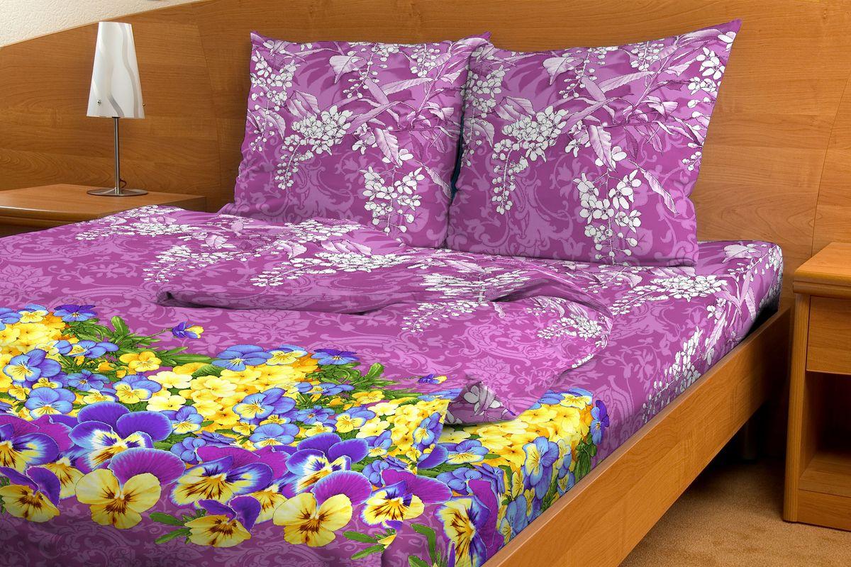 Комплект белья Amore Mio Rassvet, евро, наволочки 70x70, цвет: фиолетовый, желтый80844Комплект постельного белья Amore Mio является экологически безопасным для всей семьи, так как выполнен из бязи (100% хлопок). Комплект состоит из пододеяльника, простыни и двух наволочек. Постельное белье оформлено оригинальным рисунком и имеет изысканный внешний вид. Легкая, плотная, мягкая ткань отлично стирается, гладится, быстро сохнет. Рекомендации по уходу: Химчистка и отбеливание запрещены. Рекомендуется стирка в прохладной воде при температуре не выше 30°С.