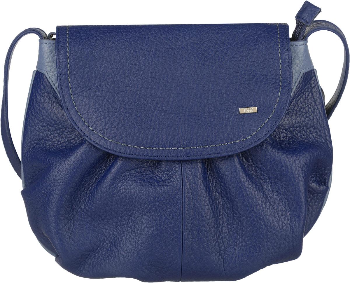 Сумка женская Esse Фаина, цвет: синий, голубой. GFAI5U-00ML00-FG508O-K101GFAI5U-00ML00-FG508O-K101Элегантная женская сумка Esse Фаина изготовлена из натуральной кожи зернистой фактуры, оформлена декоративными складками и металлической пластиной логотипа бренда. Очень удобная, легкая и практичная модель станет отличным дополнением вашего блистательного образа. Сумка состоит из одного отделения, застёгивается на молнию и дополнительно клапаном на магнитную кнопку. Отделение содержит врезной карман на молнии и нашивной карман для телефона или мелочей. На задней стенке расположен врезной карман на молнии. Сумка оснащена несъемным плечевым ремнём, регулируемой длины. Прилагается текстильный фирменный чехол для хранения. Стильный и практичный аксессуар отлично завершит образ и подчеркнет ваш безупречный вкус.