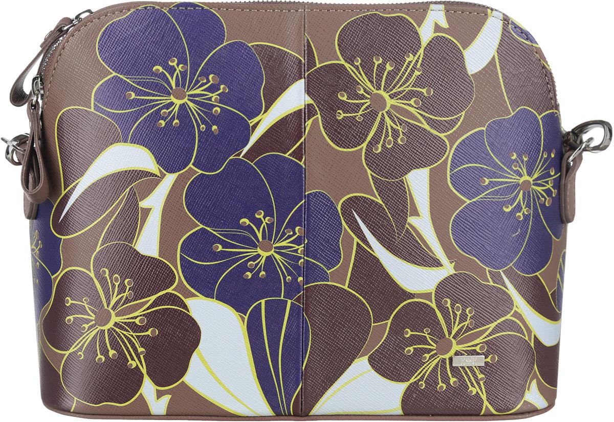 Сумка женская Esse Ребекка, цвет: коричневый. GREB2U-00ML09-FH013O-K100GREB2U-00ML09-FH013O-K100Стильная женская сумка Esse Ребекка изготовлена из натуральной кожи и оформлена цветочным принтом. Изделие имеет одно основное отделение, внутри которого расположен один прорезной карман на застежке-молнии и один накладной открытый карман. Закрывается отделение на застежку-молнию. Сзади располагается прорезной карман на застежке-молнии. Сумка оснащена съемным регулируемым плечевым ремнем. Модная сумка внесет элегантные нотки в ваш образ и подчеркнет ваше отменное чувство стиля.