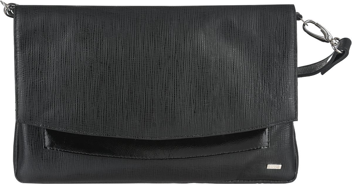 Сумка женская Esse Шерон, цвет: черный. GSHN5U-00MG09-FC501O-K100GSHN5U-00MG09-FC501O-K100Изящная женская сумка Esse Шерон изготовлена из натуральной кожи. Модель создана для женщин, ценящих оригинальный дизайн в сочетании с функциональностью и комфортом. Сумка состоит из двух отделений, в которых есть открытый карман для мелочей и карман на молнии для документов. На задней стенке расположен врезной карман на молнии. Застегивается сумка на молнию и клапан с потайным магнитом. Сумка укомплектована ремнем для ношения через плечо. Длина ремня регулируется. Прилагается текстильный фирменный чехол для хранения. Оригинальный аксессуар позволит вам завершить образ и быть неотразимой.