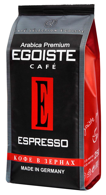 Egoiste Espresso кофе в зернах, 250 г4260283250158Венская обжарка придает этому кофе глубокий, насыщенный вкус настоящего итальянского эспрессо. Кофе с самым богатым ароматом, рекомендующийся для приготовления в кофеварке или кофе-машине.