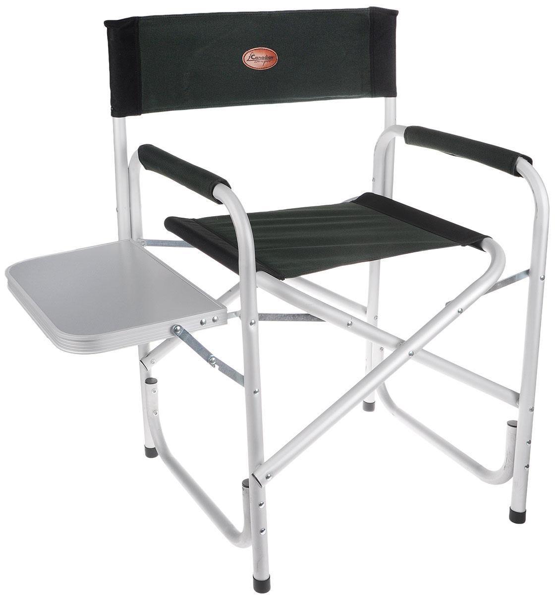 """Кресло складное Canadian Camper """"CC-100AL"""", цвет: зеленый, черный, серый"""