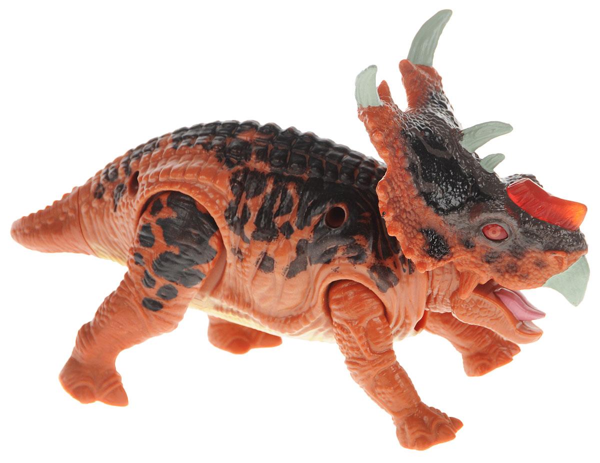Chap Mei Фигурка Пахиринозавр520008-3Фигурка Chap Mei Пахиринозавр, выполненная из яркого пластика в виде грозного динозавра, непременно придется по душе вашему малышу. При наклоне головы динозавра загорается его носовой гребень и звучит крик динозавра. Конечности фигурки подвижные. Фигурка Пахиринозавр способствует развитию у ребенка цветового и звукового восприятия, мелкой моторики, хватательного рефлекса, осязания и координации движений. Игрушка разовьет интерес ребенка к изучению живого мира нашей планеты. Отлично подходит для сюжетно-ролевых игр, которые способствуют развитию памяти и воображения у малыша. Для работы игрушки требуются 3 батарейки LR44 напряжением 1,5V (товар комплектуется демонстрационными).