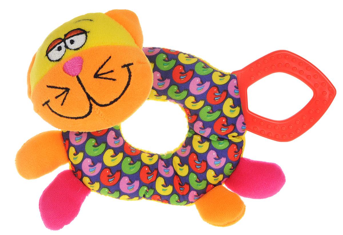 Bondibon Мягкая игрушка-погремушка КотВВ1288_котМягкая игрушка-погремушка Кот не оставит вашего малыша равнодушным и не позволит ему скучать. Игрушка выполнена из высококачественных текстильных материалов и мягкого наполнителя. В голове котика находится элемент погремушки, в котором слышно, как при тряске перекатываются маленькие шарики. Игрушка дополнена пластиковым кольцом, которое можно использовать в качестве прорезывателя. Яркая игрушка формирует тактильные ощущения, восприятие звуков, цветов и форм. В процессе игры развивается мелкая моторика и воображение вашего ребенка.