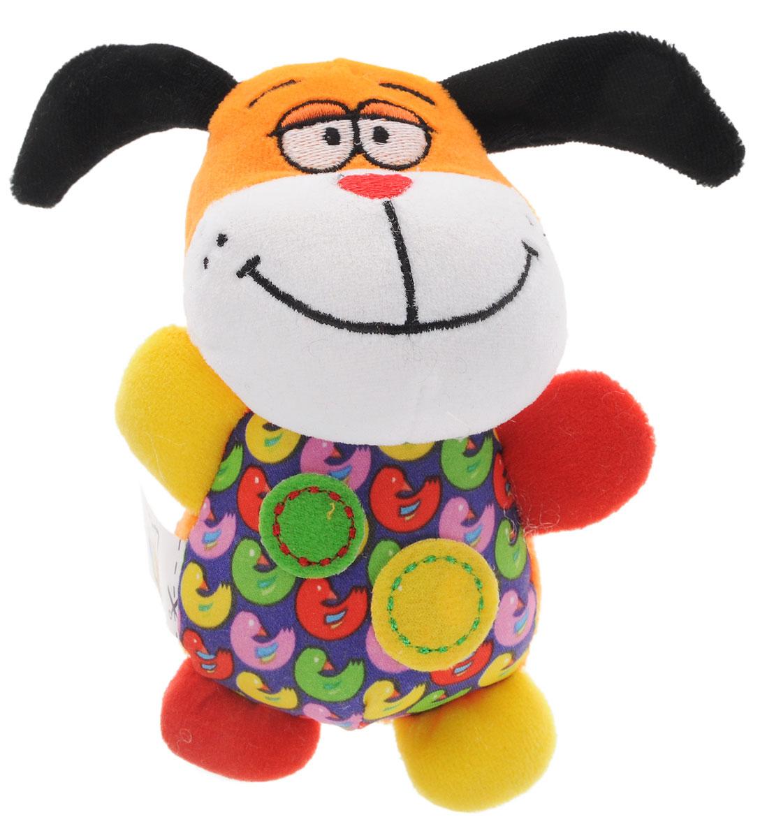 Bondibon Мягкая игрушка-погремушка СобачкаВВ1280_собакаМягкая игрушка-погремушка Собачка не оставит вашего малыша равнодушным и не позволит ему скучать. Игрушка выполнена из высококачественных текстильных материалов и мягкого наполнителя. В теле Собачки находится элемент погремушки, в котором слышно, как при тряске перекатываются маленькие шарики. Внутри ушек спрятан шуршащий наполнитель. Яркая игрушка формирует тактильные ощущения, восприятие звуков, цветов и форм. В процессе игры развивается мелкая моторика и воображение вашего ребенка.