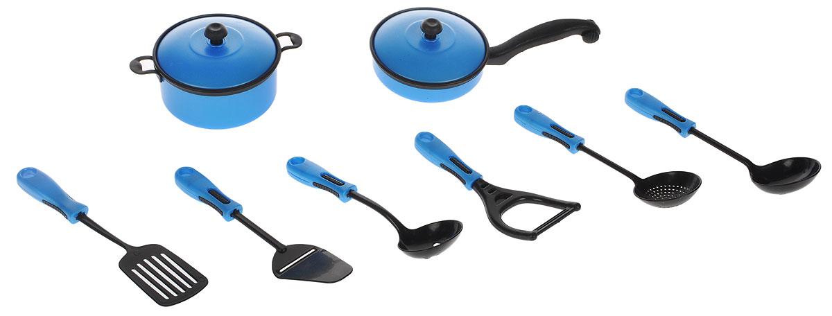ABtoys Набор кухонный 10 предметов цвет синий