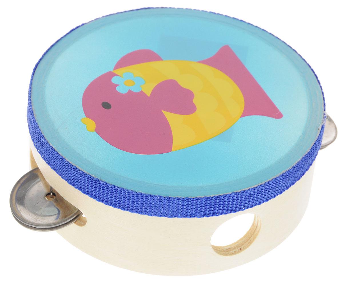 Bondibon Бубен РыбкаВВ1495_рыбкаБубен Bondibon Рыбка выполнен из экологически чистого материала - древесины с металлическими элементами, совершенно безопасен для детей и нетоксичен. Музыкальные детские инструменты являются замечательными развивающими игрушками. Они способствуют развитию у детей чувства ритма, музыкального слуха, творческого и логического мышления. В процессе игры ребенок развивает координацию рук, мелкую моторику, слаженность и точность движений. Игра на музыкальных инструментах прекрасно развивает речь и улучшает навыки общения.