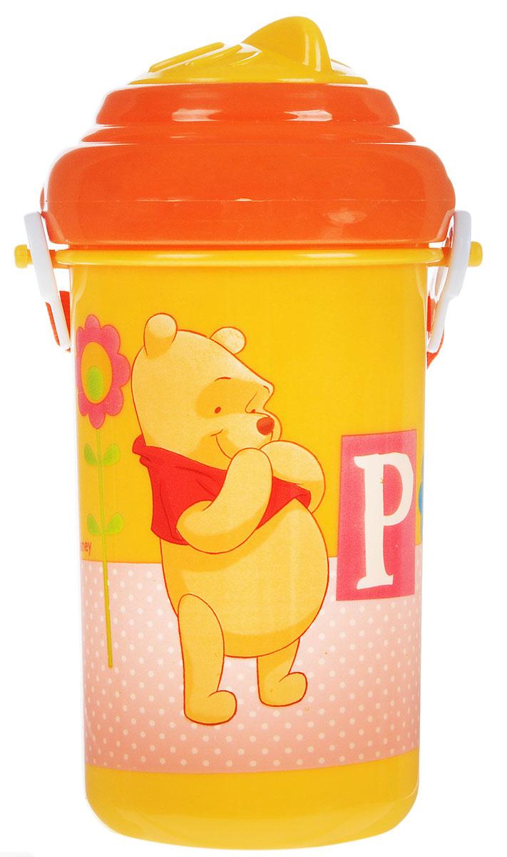 Lubby Поильник-непроливайка Медвежонок Винни с трубочкой от 6 месяцев цвет желтый 360 мл