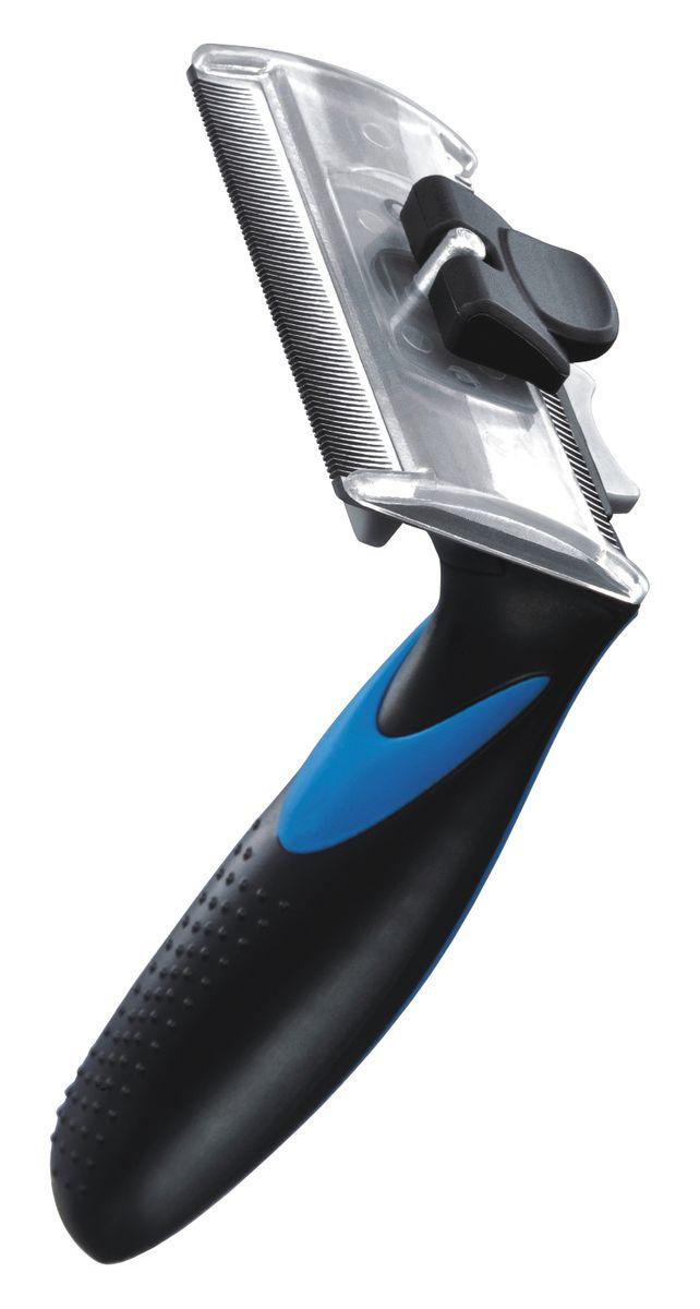 Фурбраш Ziver-411, с двойным ножом, цвет: синий. Размер L50.ZV.003ФУРБРАШ ZIVER-411, Размер L 7,65см (двойной нож)