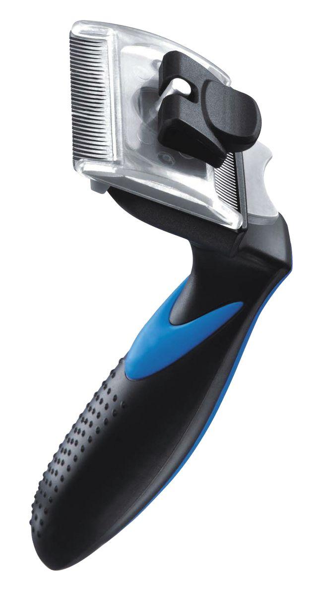 Фурбраш Ziver-410, с двойным ножом, цвет: синий. Размер S50.ZV.001ФУРБРАШ ZIVER-410, Размер S 4,45 см (двойной нож)