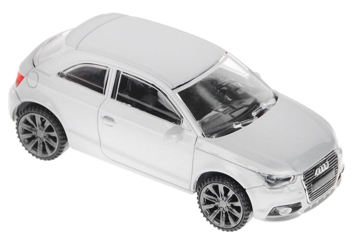 Rastar Модель автомобиля Audi A1 цвет серебристый58200_серебристыйВеликолепная модель Rastar Audi A1 обязательно привлечет внимание вашего ребенка и станет его любимой игрушкой! Машинка выполнена в масштабе 1/43 и является точной копией настоящего автомобиля. У авто литой корпус и реалистичный салон. Модель выполнена из металла с использованием пластика и оснащена резиновыми колесами, обеспечивающими хорошее сцепление с любой поверхностью пола. Колеса машины оснащены свободным ходом. Модель Rastar Audi A1 станет отличным подарком и украшением любой коллекции!