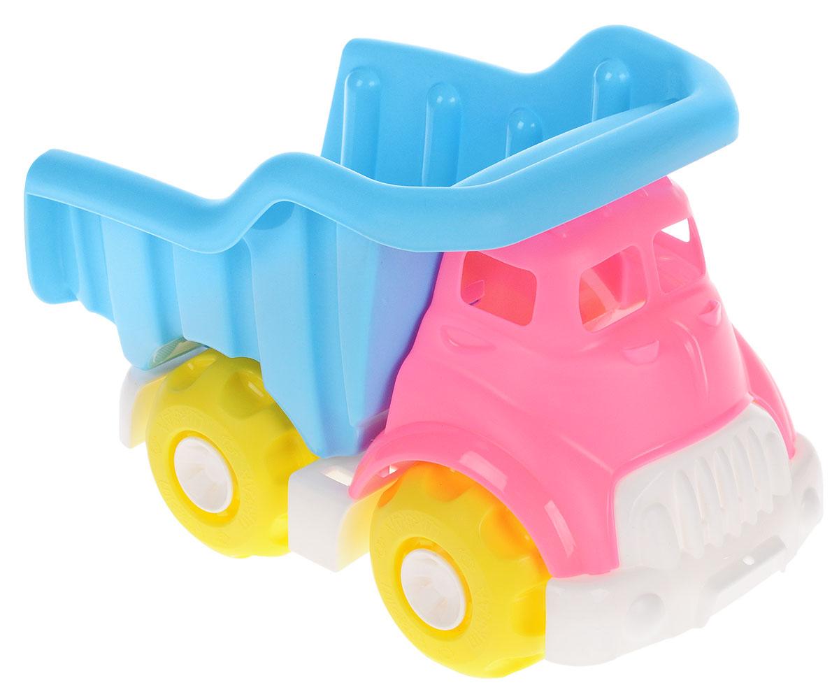 Нордпласт Грузовик Шкода цвет розовый голубойШКД15Грузовик Нордпласт Шкода, изготовленный из прочного безопасного материала ярких цветов, отлично подойдет ребенку для различных игр. Грузовик - прекрасный помощник на строительной площадке. С его помощью можно перевозить камни, песок, ветки и другие грузы. Его кузов поднимается и опускается. Большие колеса с крупным протектором обеспечивают грузовику устойчивость и хорошую проходимость. Ваш юный строитель сможет прекрасно провести время дома или на улице, воспроизводя свою стройку.