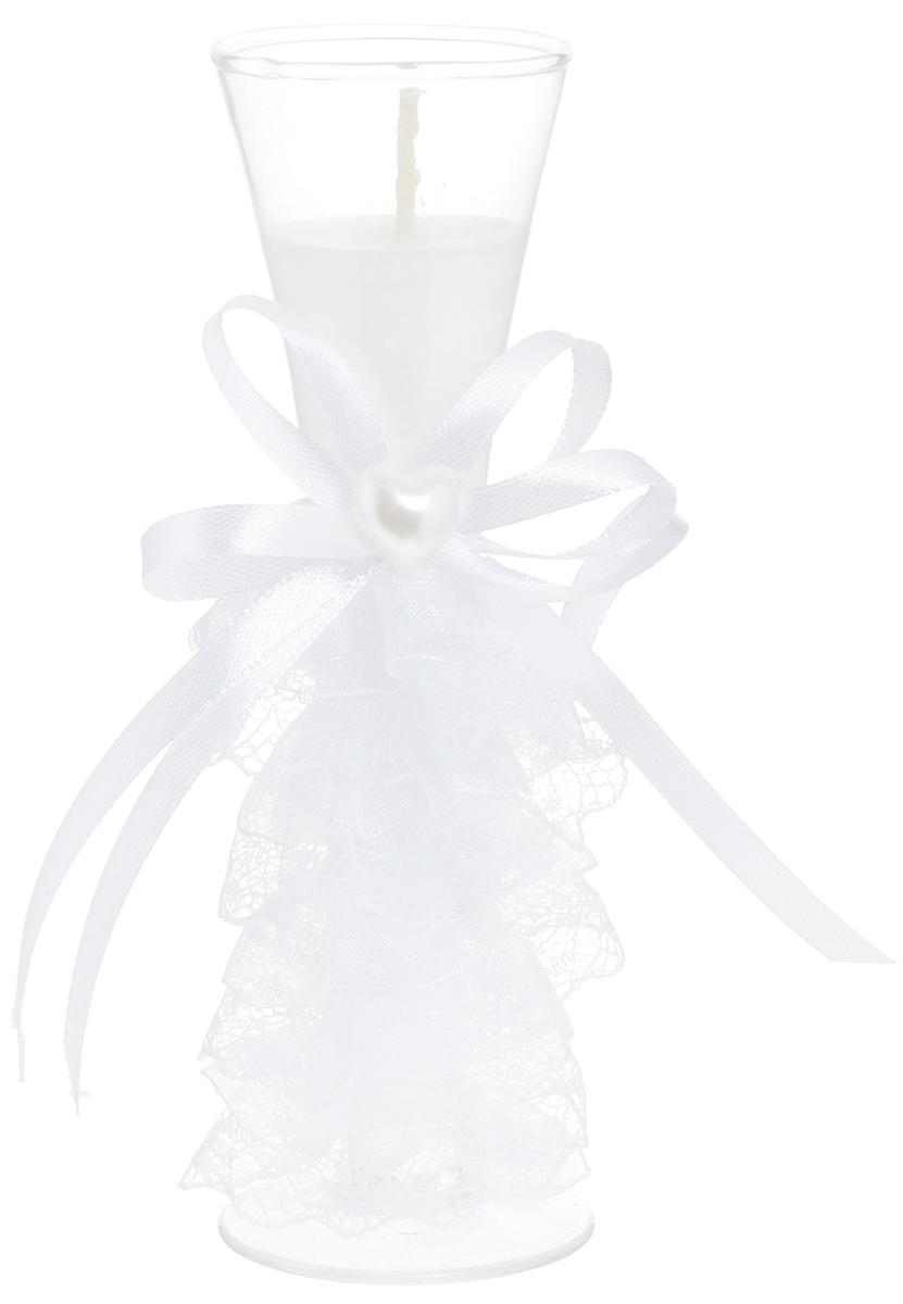 Свеча декоративная Win Max Свадебная, высота 15 см. 9470594705Декоративная свеча Win Max Свадебная изготовлена из воска и расположена в стеклянной колбе. Изделие оформлено декоративным камнем и текстильным лентами . Такая свеча может стать отличным подарком или дополнить интерьер вашей комнаты. Диаметр основания колбы: 5 см.