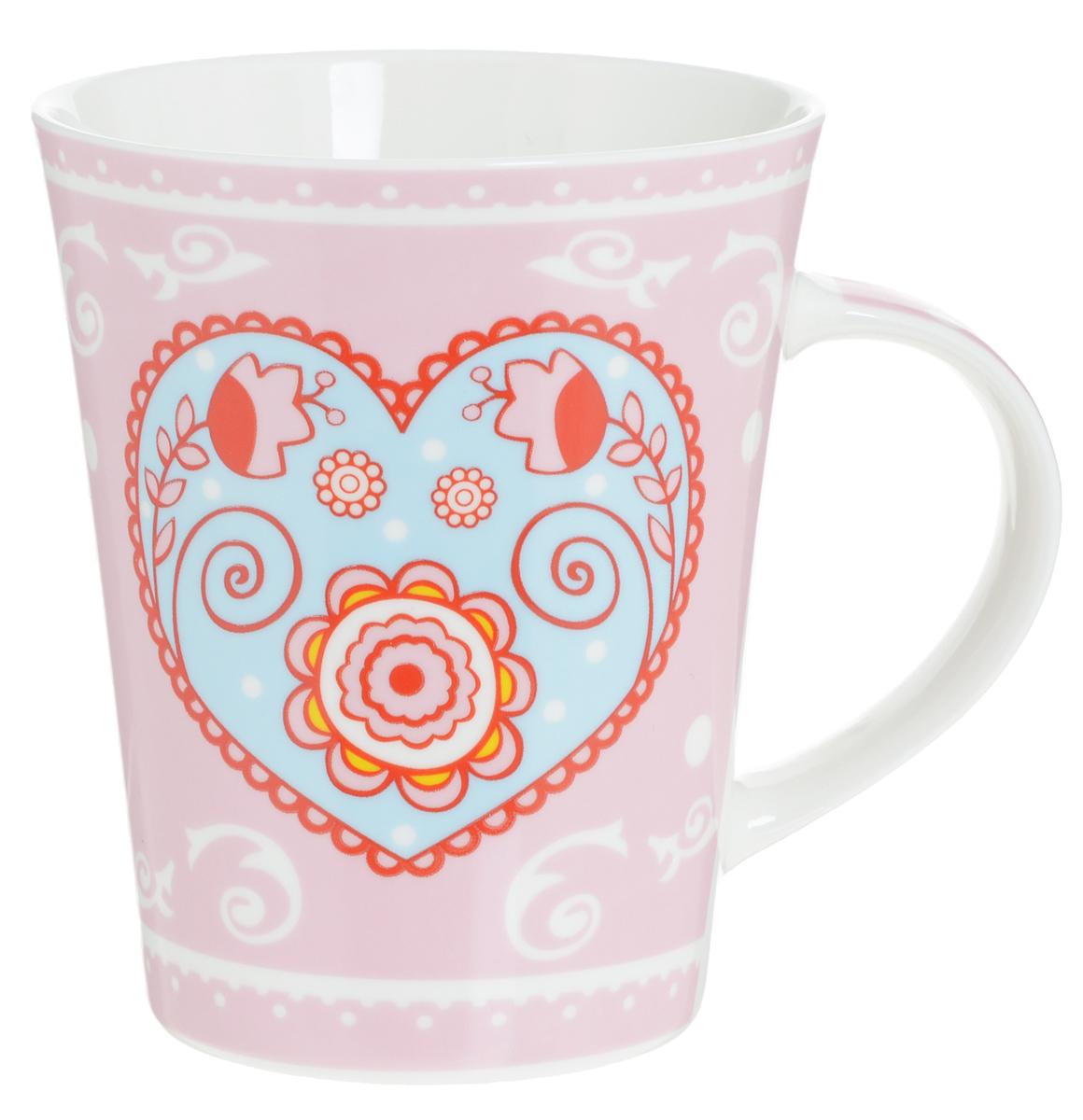 Кружка Loraine Сердце, цвет: розовый, голубой, 400 мл22118_голубое сердцеОригинальная кружка Loraine Сердце выполнена из высококачественной керамики и украшена изображением сердечек и надписями. Изделие оснащено эргономичной ручкой. Кружка Loraine Love сочетает в себе яркий дизайн и функциональность. Она согреет вас долгими холодными вечерами. Диаметр (по верхнему краю): 9 см. Высота кружки: 10,7 см. Объем: 400 мл.