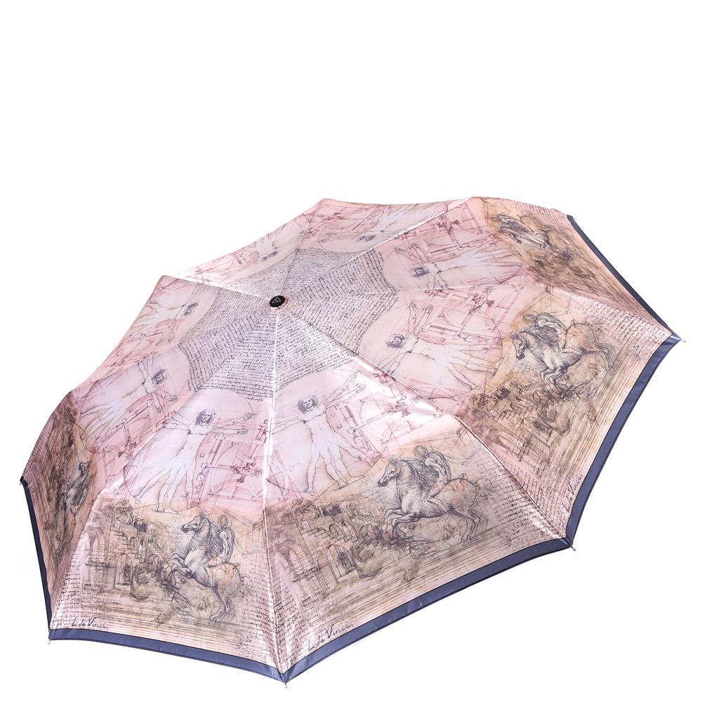 Зонт женский Fabretti, цвет: бежевый. L-16111-2L-16111-2Женский зонт от итальянского бренда Fabretti. Нежный розовый цвет и дизайнерский принт с знаменитым рисунком Леонардо Да Винчи сделают вас неотразимыми в любую непогоду! Значительным преимуществом данной модели является система антиветер, которая позволяет выдержать сильные порывы ветра. Материал купола – сатин. Он невероятно изящен, приятен на ощупь, обладает высокой прочностью, а также устойчив к выцветанию. Эргономичная ручка сделана из высококачественного пластика-полиуретана с противоскользящей обработкой.