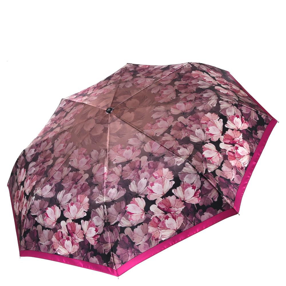 Зонт женский Fabretti, цвет: розовый. L-16113-4L-16113-4Женский зонт от итальянского бренда Fabretti. Насыщенный серый цвет, его изящная градация сделает вас неотразимыми в любую непогоду! Яркие и утонченные линии в черных тонах, стильное сочетание газетного принта и элементов в стиле барокко придают модели неповторимую выразительность и стильность. Значительным преимуществом данной модели является система антиветер, которая позволяет выдержать сильные порывы ветра. Материал купола – сатин. Он невероятно изящен, приятен на ощупь, обладает высокой прочностью, а также устойчив к выцветанию. Эргономичная ручка сделана из высококачественного пластика-полиуретана с противоскользящей обработкой.