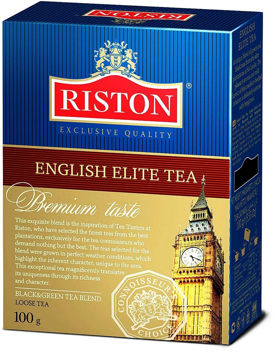Riston Элитный Английский черный листовой чай, 100 г4792156000404Уникальный купаж черного и зеленого элитного чая, выращенного на лучших плантациях Шри-Ланки. Насыщенный яркий аромат и необычайно мягкий вкус настоя средней крепости деликатно оттенен бергамотом. Стандарт FBOP