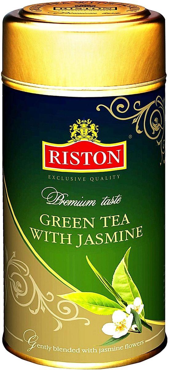 Riston Green зеленый листовой чай с жасмином стандарта GP, 225 г4792156001326Riston Green - зеленый чай, смешанный с цветами жасмина. Яркий желтый цвет с особым утонченным вкусом и восхитительным цветочным ароматом жасмина дарит ощущение свежести и бодрости на протяжении дня.