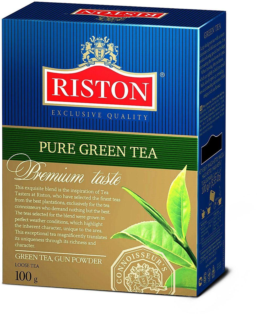 Riston Gun Powder зеленый листовой чай, 100 г4792156002187Крупнолистовой зеленый чай с крепким настоем и тонким ароматом. Приготовлен по специальной технологии прокаливания чайных листьев на сковороде. При заваривании чаинки, туго скрученные в маленькие шарики, медленно распускаются, раскрывая новые удивительные грани необычайно богатого чайного букета. Состав: чай зеленый байховый крупнолистовой китайский, стандарт GP