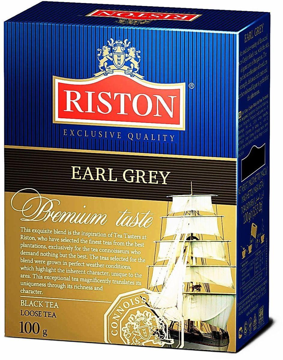 Riston Эрл грей черный листовой чай, 100 г4792156002361Эксклюзивный сорт цейлонского черного чая с богатым изысканным ароматом бергамота. Гармоничное сочетание средней крепости, восхитительного насыщенного вкуса и янтарного настоя идеально для послеобеденного времени. Чай черный байховый среднелистовой цейлонский,ароматизатор идентичный натуральному: бергамот, стандарт FBOP