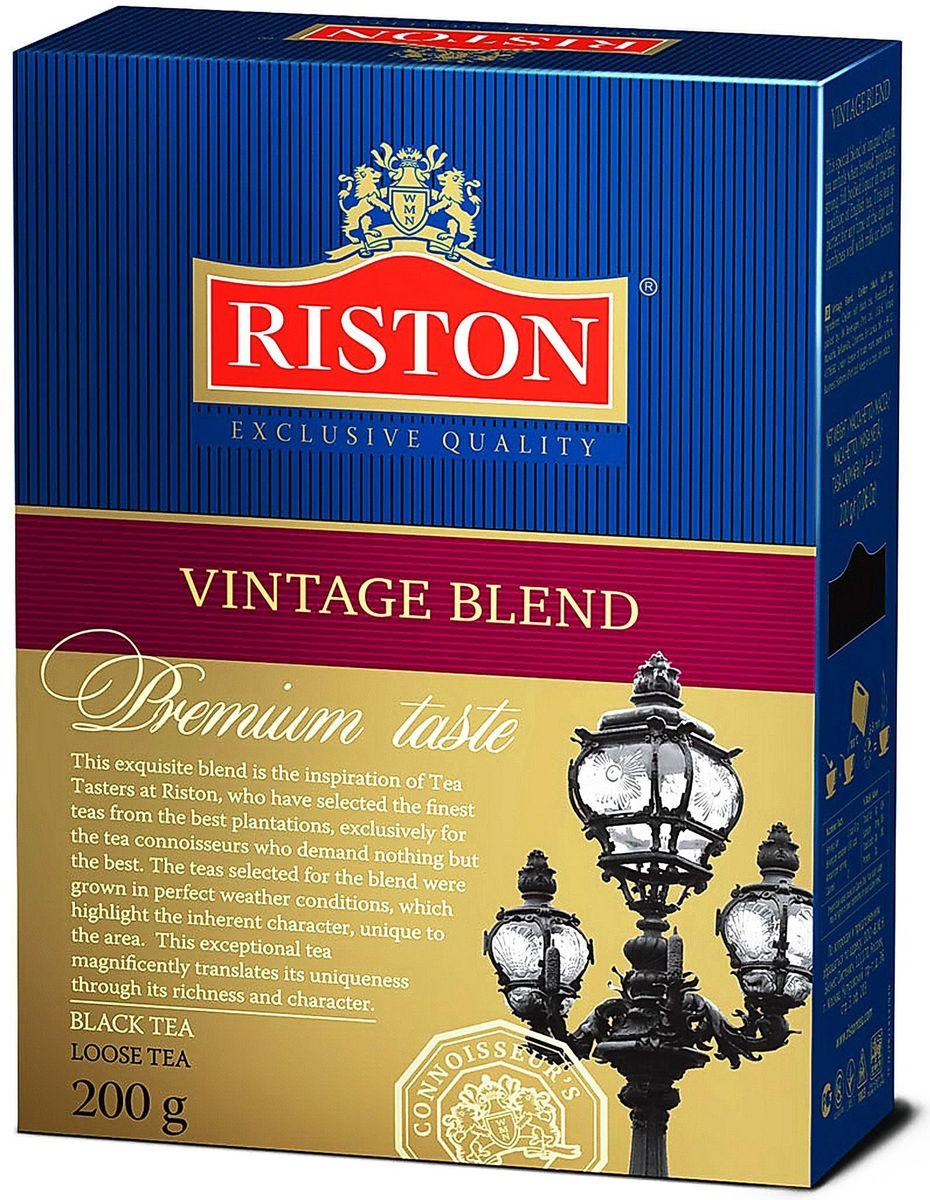 Riston Винтаж Бленд черный листовой чай, 200 г4792156003276Это исключительный купаж, где крупный лист настоящего цейлонского чая раскрывается во время заваривания и дает крепкий насыщенный настой в лучших традициях английского чаепития. Этот чай прекрасен для любого времени дня, отлично сочетается с молоком или лимоном. (Крупный лист, Pekoe)