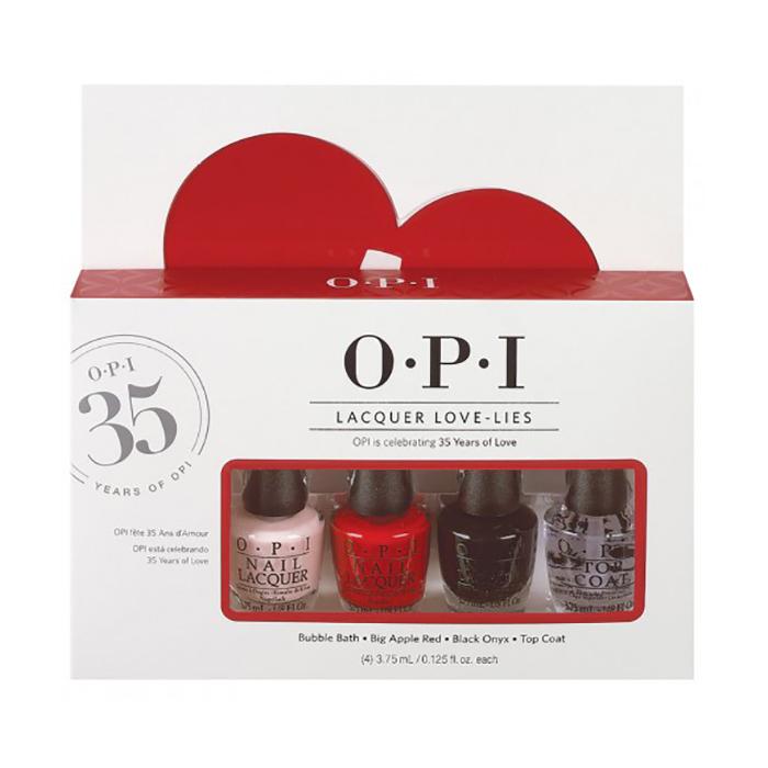 OPI Набор мини лаков OPI Lacquer Love-lies, 4*3,75 мл (NLS86, NLN25, NLT02+NTT30)