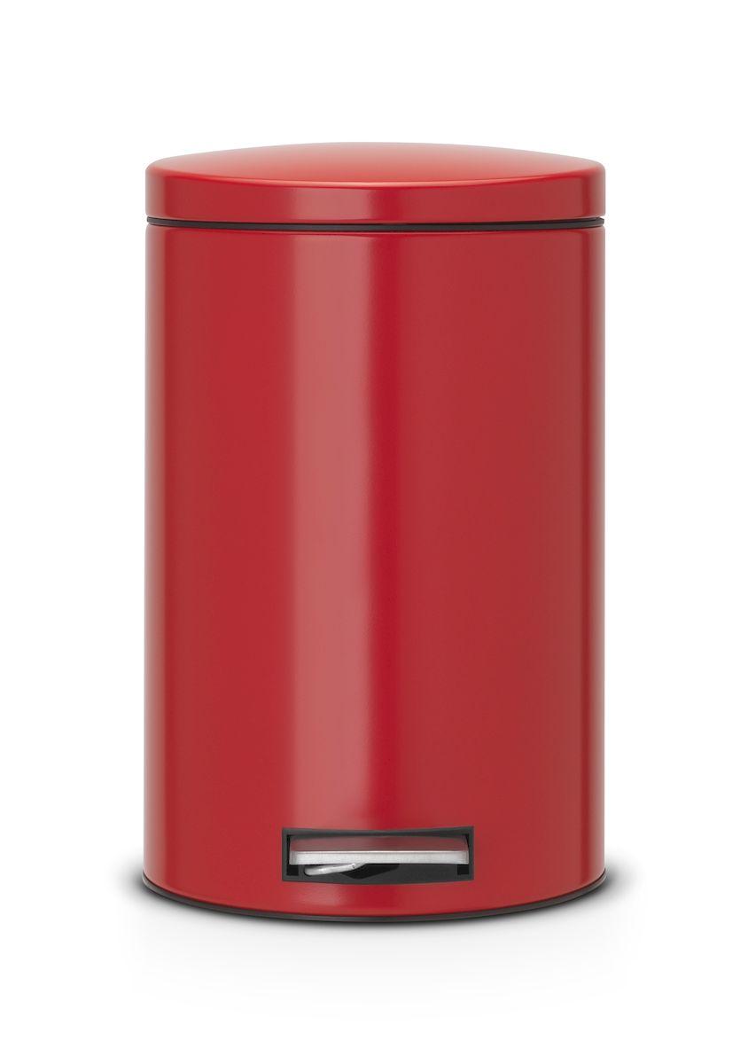 Ведро для мусора с педалью Brabantia 12л Silent, цвет: красный483721Педальный бак Brabantia на 12 л поистине универсален и идеально подходит для использования на кухне или в гостиной. Достаточно большой для того, чтобы вместить весь мусор, при этом достаточно компактный для того, чтобы аккуратно разместиться под рабочим столом. Механизм MotionControl обеспечивает мягкое действие педали и бесшумное открывание крышки; Удобный в использовании - при открывании вручную крышка фиксируется в открытом положении, закрывается нажатием педали; Надежный педальный механизм, высококачественные коррозионно-стойкие материалы; Удобная очистка - прочное съемное внутреннее пластиковое ведро; Предохранение пола от повреждений - пластиковое защитное основание; Всегда опрятный вид - идеально подходящие по размеру мешки для мусора с завязками (размер C); 10-летняя гарантия Brabantia.
