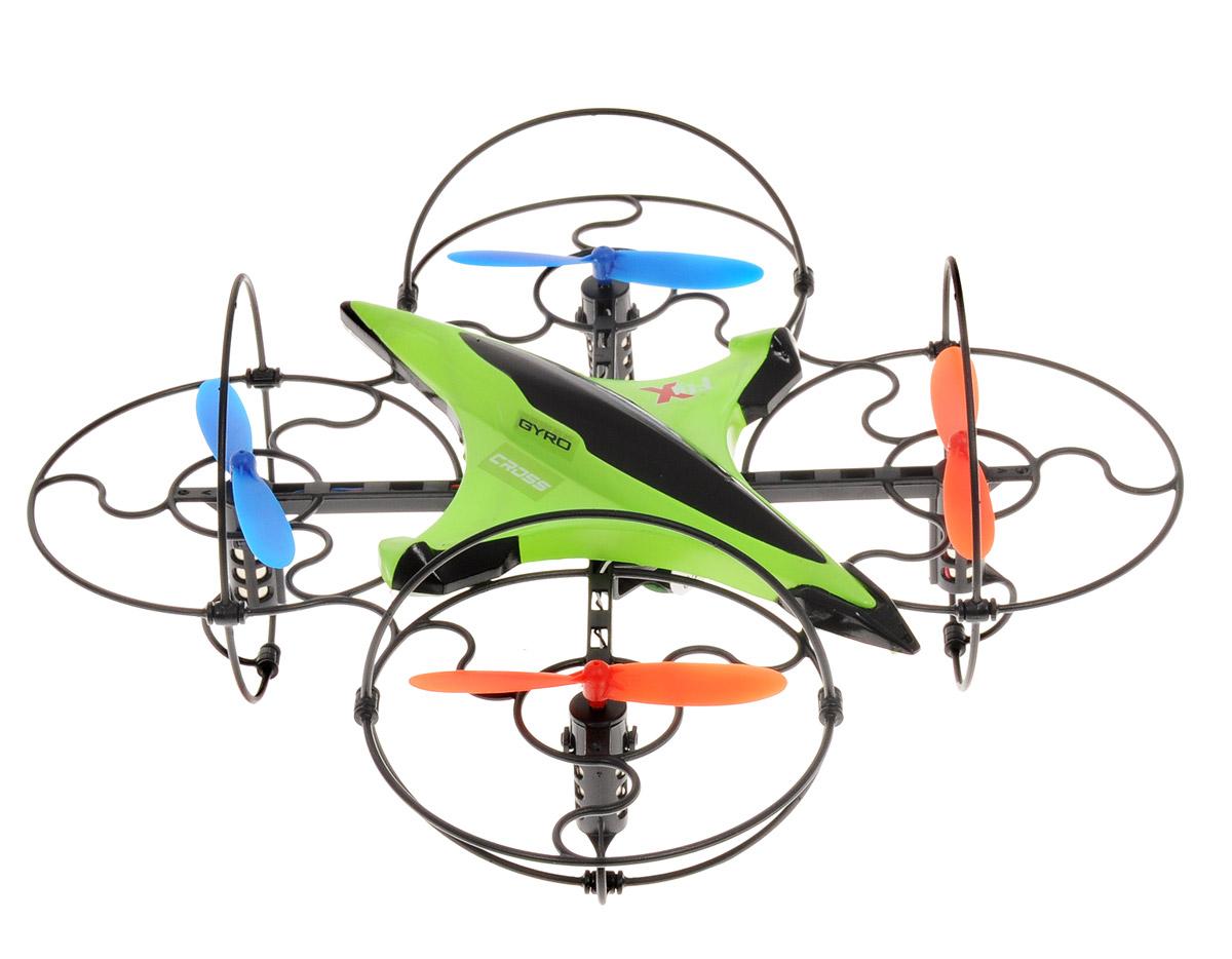 1TOY Квадрокоптер на радиоуправлении Gyro-CrossТ58983Квадрокоптер на радиоуправлении 1TOY Gyro-Cross со встроенным гироскопом идеально подходит для игры внутри помещений, имеющих достаточное пространство, а также на улице при умеренном ветре. Встроенный 6- осевой гироскоп стабилизирует квадрокоптер при запуске двигателей после броска, а также при столкновении с другими летающими объектами. Новая уникальная система управления EASY FLY 360° предоставляет полный контроль за квадрокоптером независимо от его положения. Если он залетает за спину пилота, необходимо повторно активировать EASY FLY и аппарат снова будет следовать в том же направлении, что и джойстик пульта управления. Квадрокоптер имеет функцию отладки вращения, а после завершения процедуры настройки, мигает диодами. Игрушка может летать вперед-назад, вверх-вниз, вращаться, зависать в воздухе. Также он может летать боком, восьмеркой и по кругу. Аппарат может переворачиваться на 360° в полете. Квадрокоптер имеет 2 скоростных режима. Полностью...