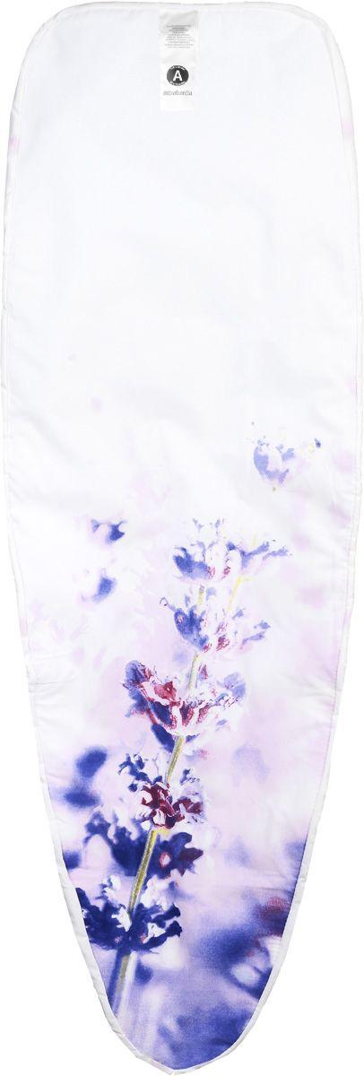 Чехол для гладильной доски Brabantia Сиреневые цветы, 110 х 30 см194801_сиреневые цветыЧехол для гладильной доски Brabantia Сиреневые цветы, выполненный из хлопка, подарит вашей доске новую жизнь и создаст идеальную поверхность для глажения и отпаривания белья. Чехол снабжен стягивающим шнуром, при помощи которого вы легко отрегулируете оптимальное натяжение чехла и зафиксируете его на рабочей поверхности гладильной доски. В комплекте имеются ключ для натяжения нити и резинка с крючками для лучшей фиксации чехла. Этот качественный чехол обеспечит вам легкое глажение. Размер чехла: 110 х 30 см.
