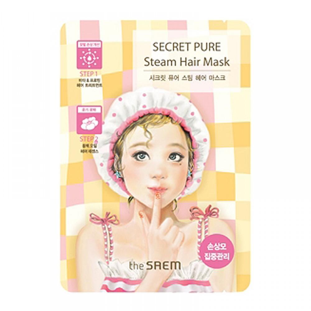 The Saem Маска для поврежденных волос паровая Secret Pure Steam Hair Mask, 15 гр*5 грСМ1010Укрепляющая маска для поврежденных волос. Ее формула обладает двухступенчатой системой ухода и способствует их общему оздоровлению, в результате чего они приобретают притягательный блеск и сияние. Витакомплекс и протеины активно питают волосяные фолликулы, препятствуя их дальнейшему повреждению, вследствие чего волосы становятся более крепкими и густыми, наполняются энергией снаружи и изнутри. Масло камелии сохранит влагу в клетках кожи, защитит от сечения и расслоения, «запечатает» встопорщенные волосяные чешуйки.
