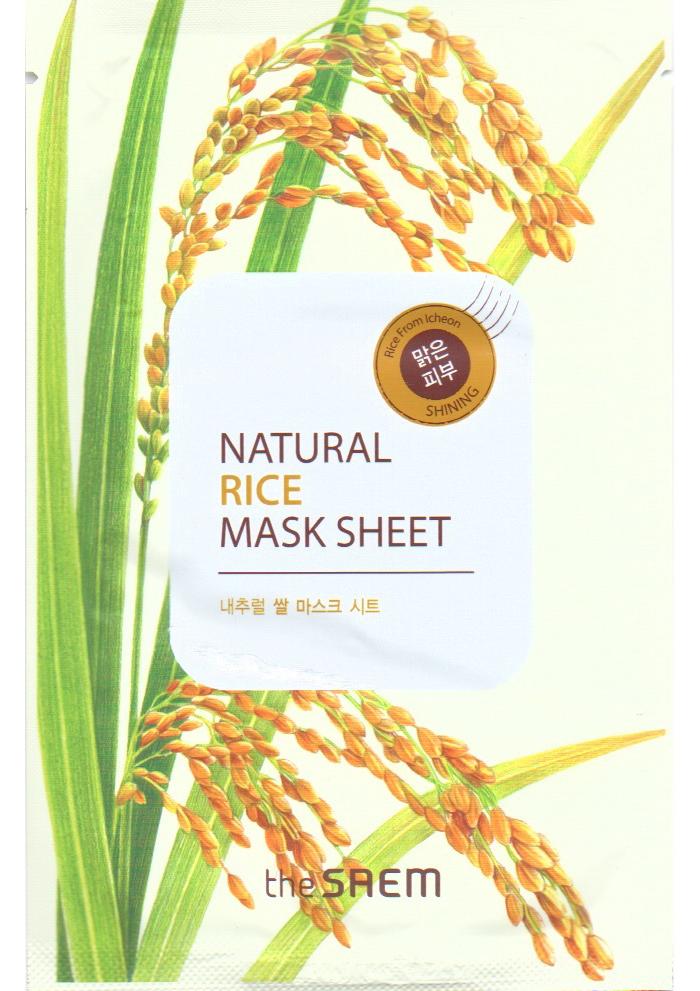 The Saem Маска тканевая с экстрактом риса Natural Rice Mask Sheet, 21 мл