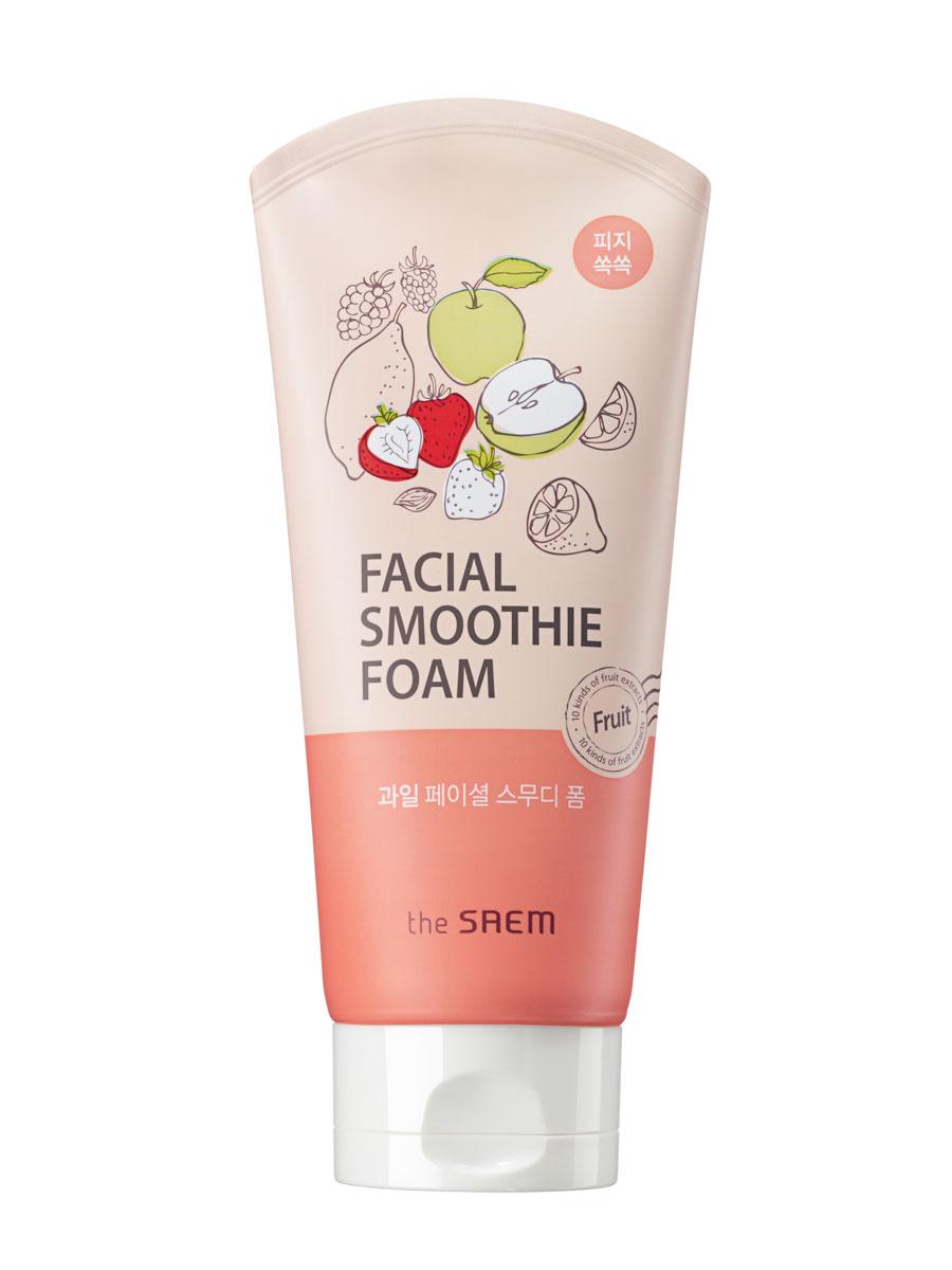 The Saem Пенка для умывания для лица фруктовая Fruit Facial Smoothie Foam, 150 млСМ1773Освежающая мультифруктовая пенка для очищения жирной кожи лица. Содержит десять видов фруктовых экстрактов и других растительных ингредиентов. Поддерживает здоровый вид кожи, одновременно питает и тщательно устраняет все загрязнения и отмершую роговицубез ощущения стянутости и сухости.Удаляет избыточное выделение кожного жира, контролирует его выделение, даря комфортное умывание и притягательный аромат. Мощный витаминный комплекс придает коже сияющий, здоровый тон, гладкость, тонизирует, обладает укрепляющим свойством, восстанавливая защиту от свободных радикалов. Объем: 150мл