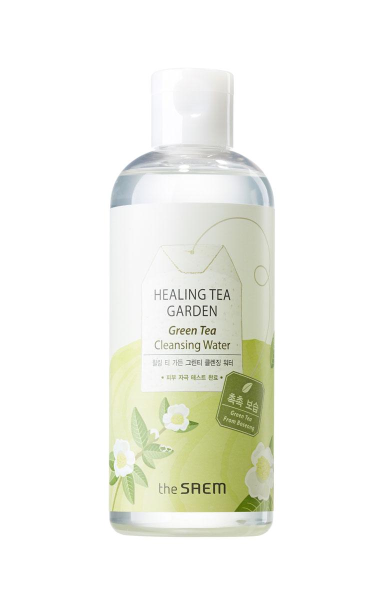 The Saem Вода очищающая увлажняющая с экстрактом зеленого чая Healing Tea Garden Green Tea Cleansing Water, 300 млСМ73Эффективное средство для мягкого очищения и интенсивного увлажнения кожи. Вода содержит полифенолы зеленого чая, которые обладают противовоспалительным и антибактериальным действием, способствуют проникновению биологически активных веществ в кожу и снабжает клетки кислородом, усиливает защитные свойства кожи, уменьшает отеки. В воде не содержатся искусственные красители и отдушки, бензофенон, парабены, продукты животного происхождения, минеральные масла и тальк. Объем: 300 мл