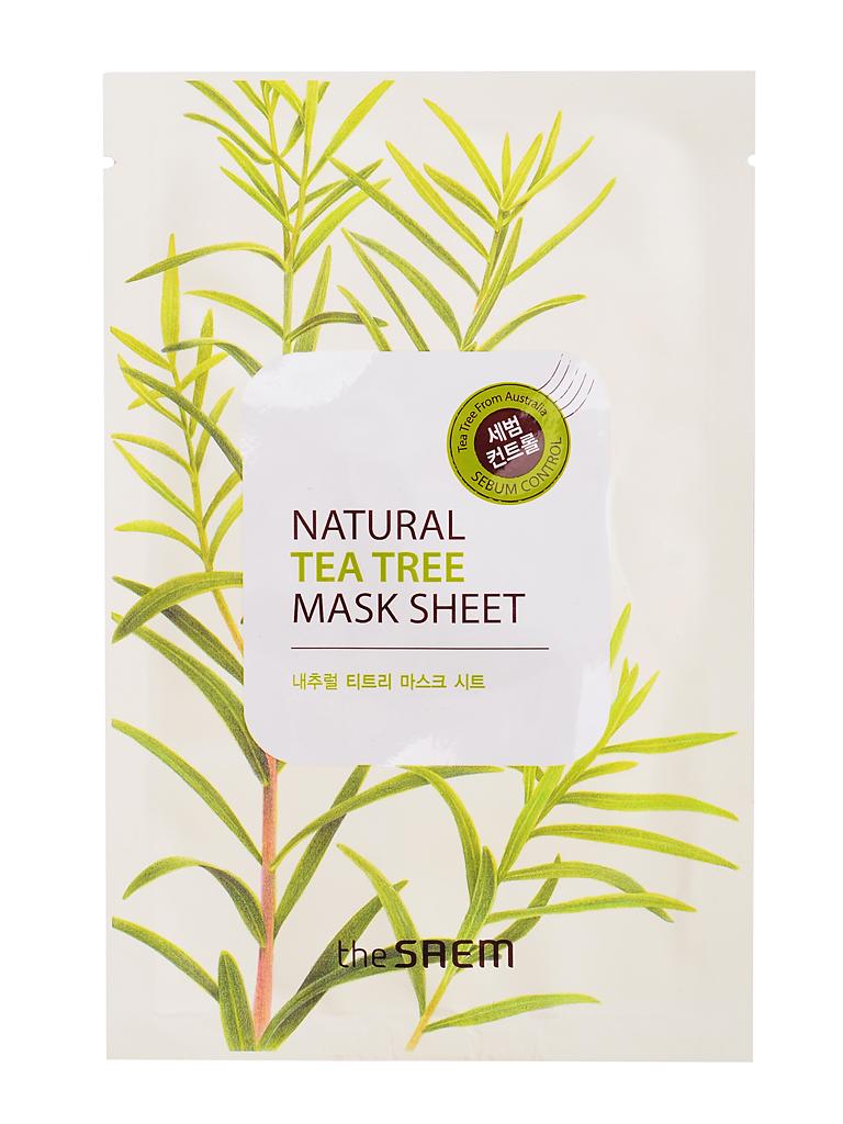 The Saem Маска тканевая с экстрактом чайного дерева Natural Tea Tree Mask Sheet, 21 млСМ745Экстракт чайного дерева из Австралии, являясь результативным антисептическим и противовоспалительным средством широкого спектра действия, успокаивает и освежает кожу, придает бодрость и тонизирует. Препятствует образованию угревой сыпи и возвращает коже ровный тон, особенно эффективен для проблемной кожи. Маска содержит минеральную воду, насыщающую кожу микроэлементами и солями, которая становится увлажненной и гладкой. Гипоаллергенна. Объем: 21мл