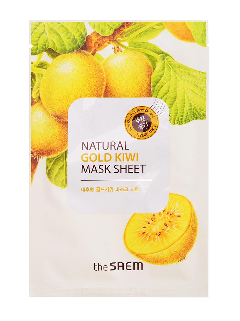 The Saem Маска тканевая с экстрактом киви Natural Gold Kiwi Mask Sheet, 21 мл