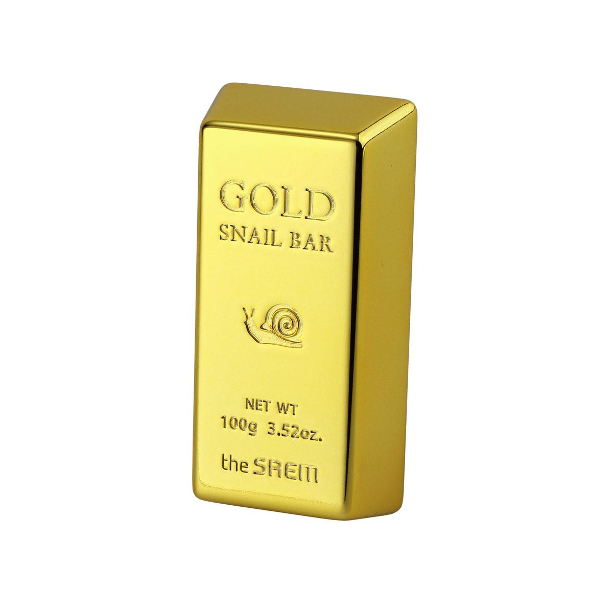 The Saem Мыло для умывания с экстрактом золота, муцина улитки, оливы Gold Snail Bar, 100 грСМ840Мыло эффективно очищяет кожу от любых ежедневных зягрязнений, при этом питает кожу и способствует регенерации клеток кожи. Экстракт золота в составе имеет бактерицидное действие и в значительной мере увеличивает способность кожи к впитыванию, сохранению влаги, а ткаже исполняет роль проводника для биологически активных элементов: растительных экстрактов и витаминов. Экстракт оливы - особенно полезен для сухой кожи, питает, увлажняет, смягчет кожу, а так же восстанавливает здоровый цвет лица. Экстракт муцина улитки - способствует регенерации клеток кожи, питает, восстанавливает уставшую и тусклую кожу, заживляет и обесцвечивает постакне.